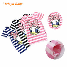 Girls Dress Brand Kids Girl Clothes Cartoon stripe Pattern Design Summer Children Clothing Princess Dresses Vestidos 2-6 Y A122