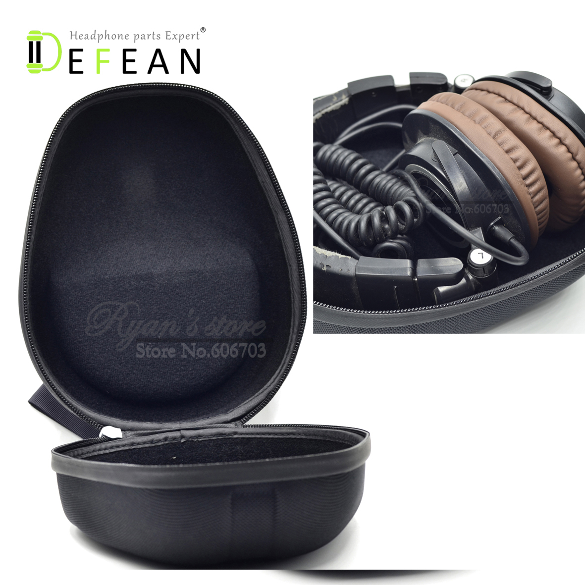 Defean Generic Headphone Case Box Sony Mdr 7506 V6