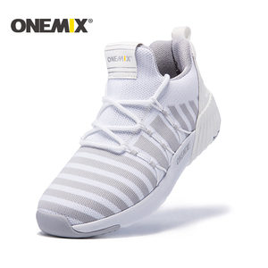 Image 1 - ONEMIX New Running Shoes women warm height increasing shoes winter sports shoes for women Outdoor Unisex Athletic Sport Shoes