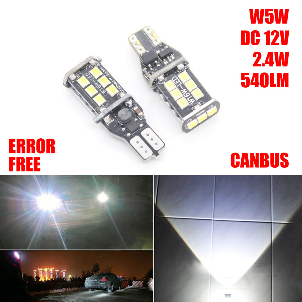 2X T15 W16W 921 LED Car Error Free Canbus Extreme 2835 Chips LED High Power Light Bulbs Compatible with T10 W5W LED Auto Bulbs carprie super drop ship new 2 x canbus error free white t10 5 smd 5050 w5w 194 16 interior led bulbs mar713