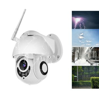 Outdoor Waterproof Wireless WIFI IP Camera 1080P CCTV HD Surveillance Cam for Home Security Supplies with Four Lights