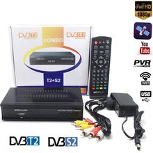 Satellite receiver HD Digital DVB T2+S2 TV Tuner Receivable 1080P HD Digital H.264/MPEG-2/MPEG-4 receptor Support bisskey GE ES