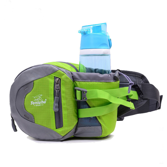 2016 new style riding a water bottle waterproof nylon bag male / female couples waist packs