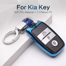 2017 2018 NEW TPU Car Key Cover Case For Kia Rio 3 K2 Ceed Cerato K3 Sportage 4 Picanto K5 Optima Sorento Forte Stinger Key Ring