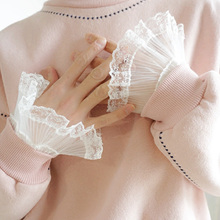 Fashion Women Warm Soft Gloves Lady accessories Apparel Original Handmade Universal False Cuff Sleeve Shirt lace fake sleeve