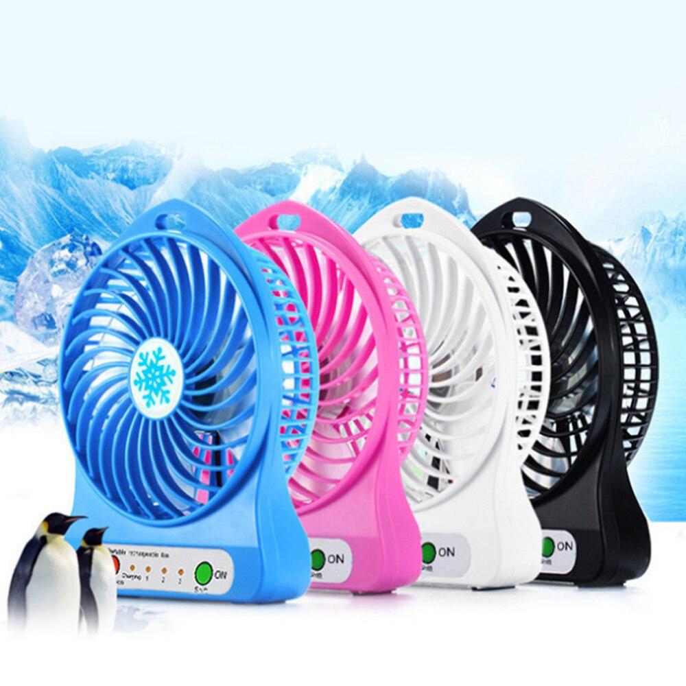 Hoomall Home Desk  Portable LED Light Mini Fan Summer Office Air Cooler Mini USB Fan Third Wind Speed USB Fan
