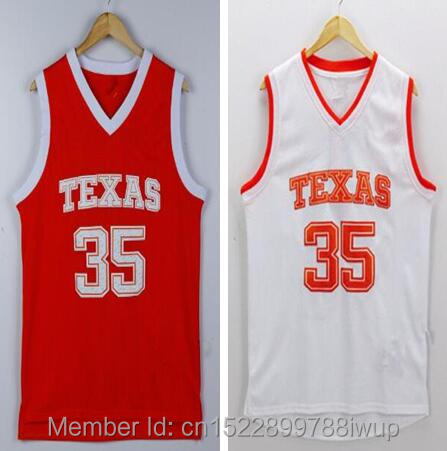 f6257d6f1f5a Dwayne Texas Longhorns Kevin Durant 35 College Retro throwback stitched  embroidery basketball jerseys - Burnt Orange