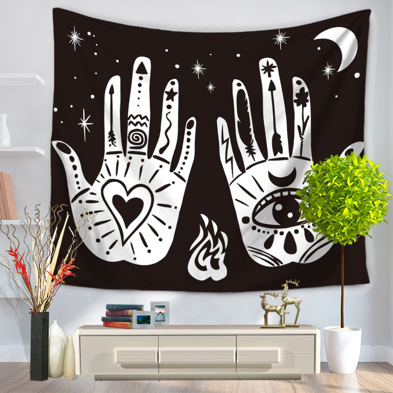 Image 2 - CAMMITEVER Geometry Skull Eyes Hot Sale Tapestry Indian Mandala Tapestry Hippie Wall Hanging Tapestries Boho Bedspread New In-in Tapestry from Home & Garden