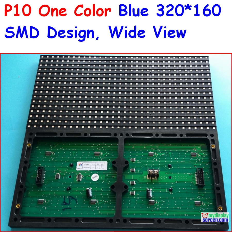 <font><b>p10</b></font> blue <font><b>led</b></font> panel,<font><b>smd</b></font> semi-outdoor , indoor use 320*160 32*16 , hub12 monochrome,<font><b>SMD</b></font> wide view angle,high brightness image