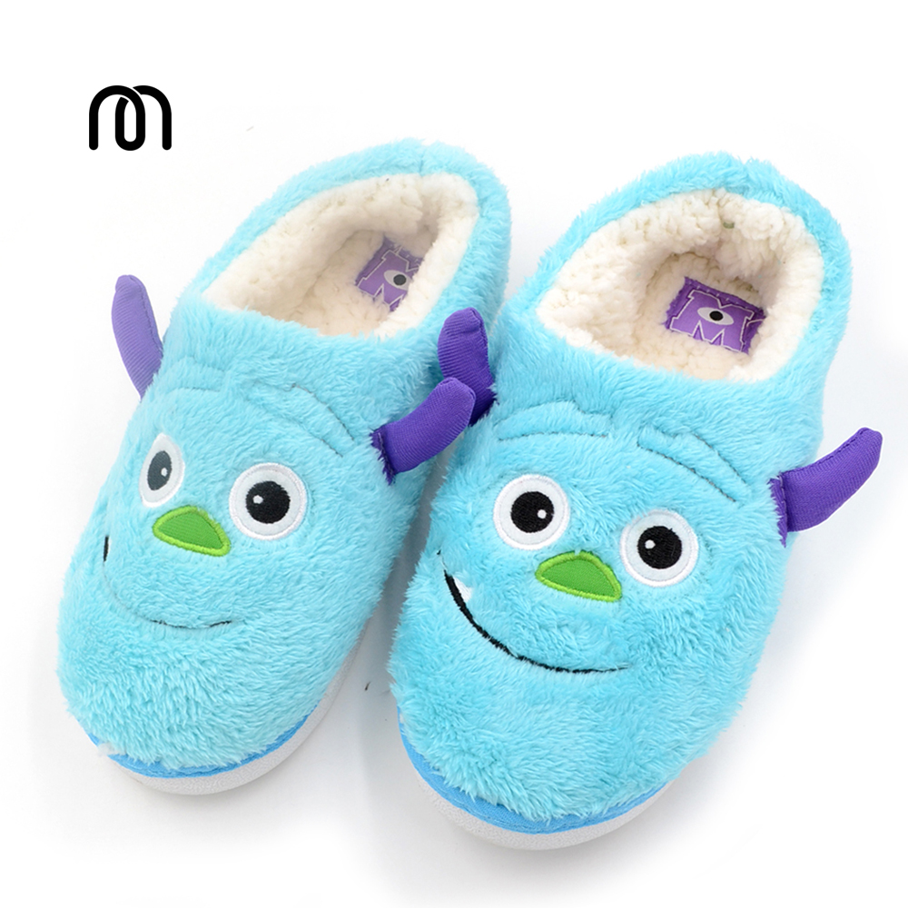 Millffy monster big eyeswarm home slippers couples lovers household soft cotton slipper big bad monster reader