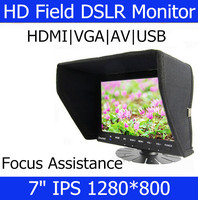 IPS Screen 1280 800 7 TFT LCD On Camera Monitor Field Monitor With HDMI VGA AV