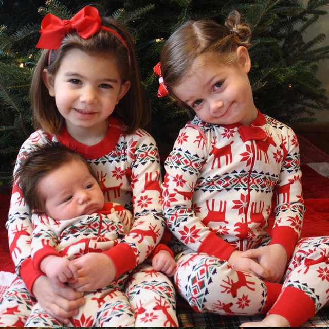 family christmas pajama family matching clothes matching mother daughter clothes fashion father son mon new year - Matching Christmas Pajamas For Family