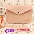 Capa de couro, cartão Envelope carteira bolsa Case Bag para Galaxy S3 S4 S5 i9600 Xiaomi M3 para HTC One M7 M8 Mobile Phone