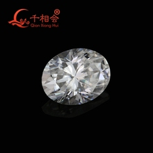 DF GH IJ color white oval shape diamond cut Sic material moissanites loose gem stone qianxianghui