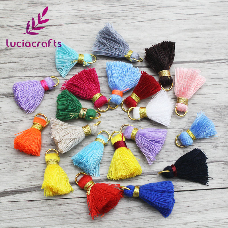 Fashewelry 20Pcs Random Mixed Colors Polyester Long Tassel Pendants with Loops 3.35 Inch//85mm for Jewelry Making Bookmarks Souvenir
