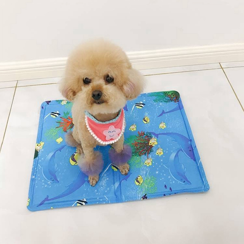 Non-slip Summer Pet Cooling Mat Gel Cooling Pad Skin-friendly Non-toxic Kennel for Dog Cat Stay Cooling Avoid OverheatingNon-slip Summer Pet Cooling Mat Gel Cooling Pad Skin-friendly Non-toxic Kennel for Dog Cat Stay Cooling Avoid Overheating