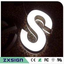 Фабричный магазин высокого качества 25 мм толщиной акриловые супер высокой яркости магазин знак, пользовательские светодиодные знаки буквы для логотипов Название компании
