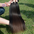 7A pelo virginal indio Yaki recto baratos sin procesar Yaki indio recto de la armadura natural manojos de cabello humano remy 4 unids montón de regalos