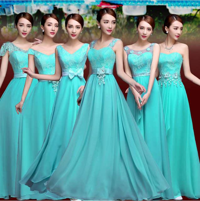 9937c862a placeholder Vestido De Festa Turquesa Da Dama de Honra Vestido de Chiffon  Dois Armadilha Azul Turquesa Vestidos