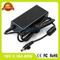 19 В 3.16A 60 Вт ноутбук адаптер переменного тока для Samsung зарядное устройство R26 R403 R418 R420 R423 R425 R408 R410 R411 R427 R428 R429 R430 R431