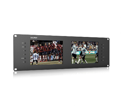 LILLIPUT RM-7028S Dual 7 3RU Rack Monitors With Dual 7 IPS Screens, Viewing SD, HD and 3G-SDI Video on 3RU Rack Monitor