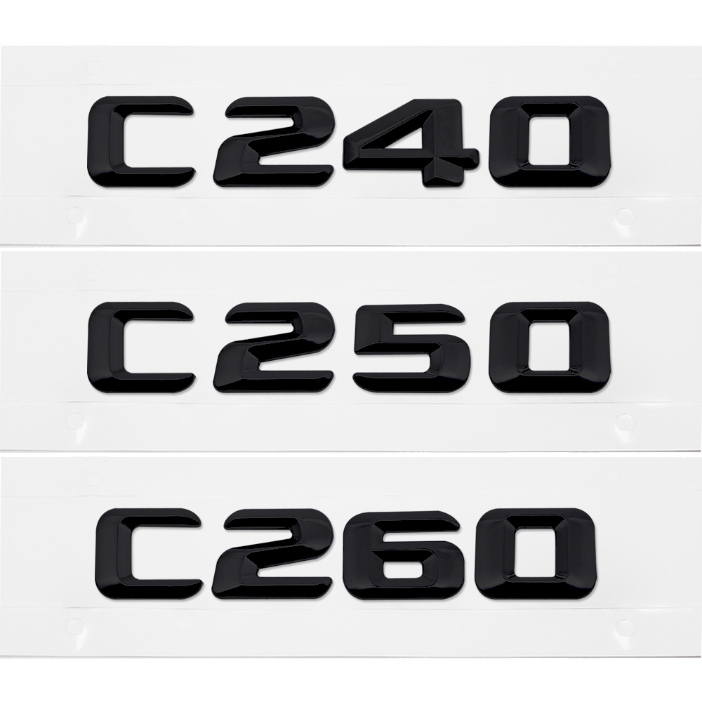 Back To Search Resultsautomobiles & Motorcycles Painstaking Car Rear Trunk Emblem Lettering Badge Sticker C240 C250 C260 For Mercedes Benz C Class W201 W202 Cla Cls C Glc Auto Accessories Exterior Accessories