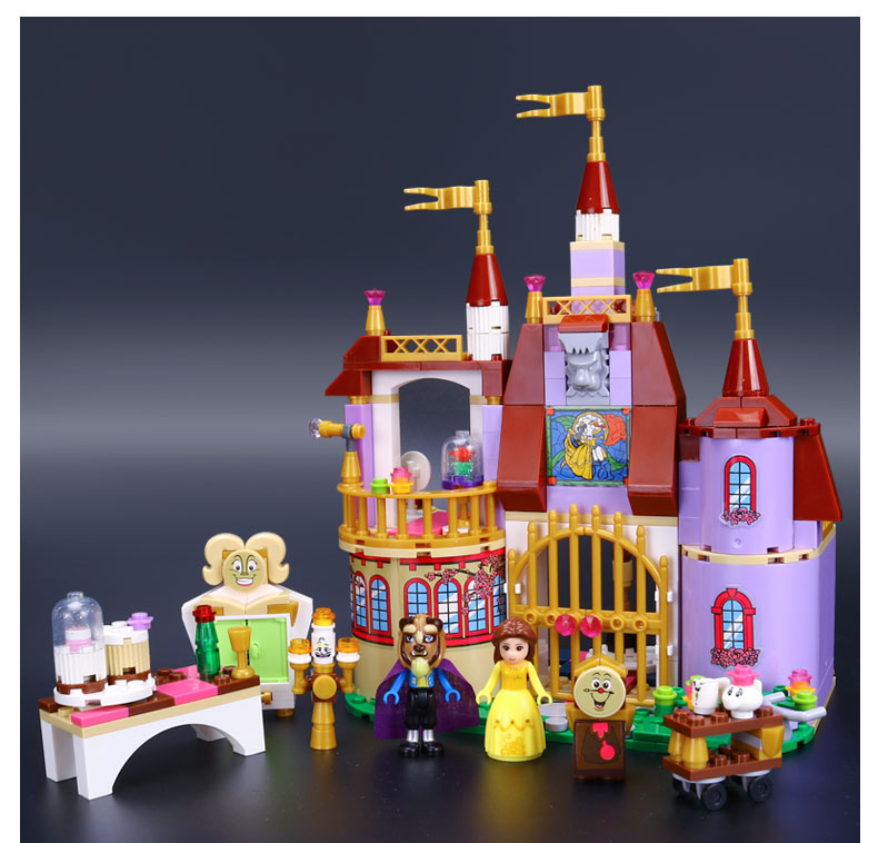 Disney Lepin 01010 The Princess Bell`s Enchanted Castle Beauty and The Beast Educational Building Blocks Bricks Girl`s Toy 41067 judith dean alladin and the enchanted lamp