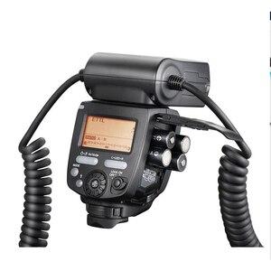 Image 4 - Yongnuo YN 24EX الماكرو حلقة فلاش speedlite مع 2 رئيس 4 محول خواتم لكانون كاميرا فلاش