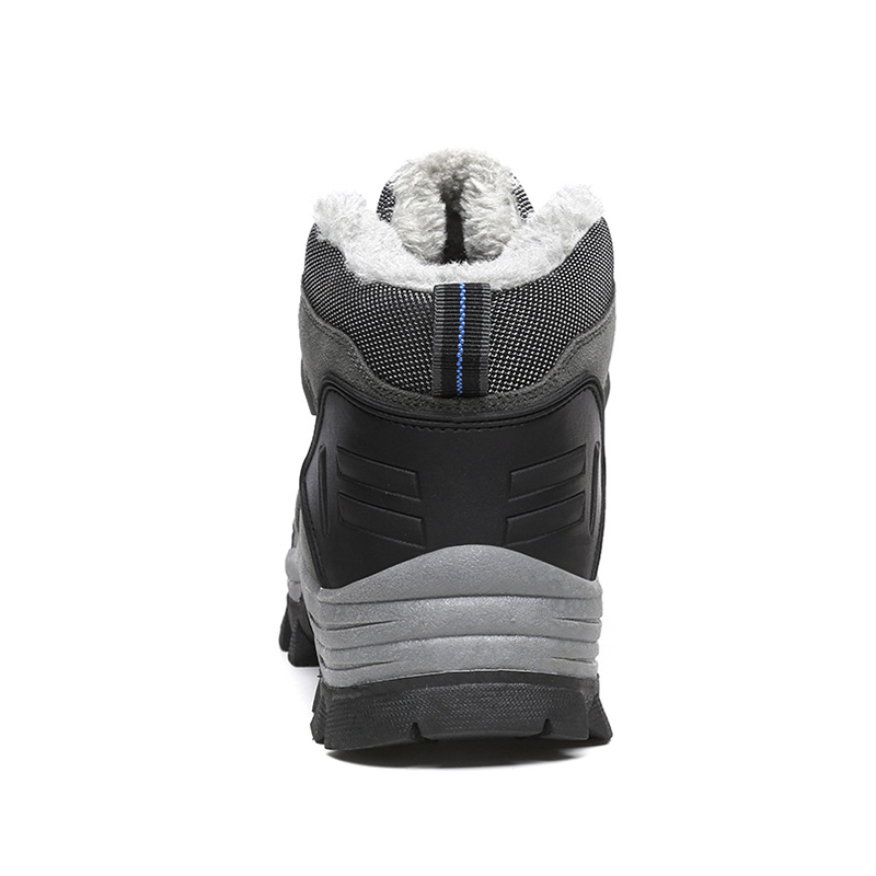 khaki Gray Ww D'hiver Chaud Bottes Chaussures Masorini army Mode Cheville Avec Neige Occasionnels 3946 076 Peluche Hommes Travail CxthrBsQdo