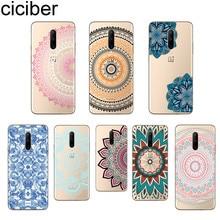 ciciber Phone Case For Oneplus 7 Pro 1+7 Pro Soft TPU Cover for Xiaomi 9 Coque For Redmi Note 7 6 Pro Funda Shell Mandala Flower