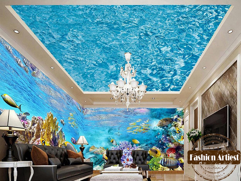 Superior Aliexpress.com : Buy Large Wall 3d Dolphin Wallpaper Mural Sea Ocean Live  Fish Aquarium Sofa Tv Bedroom Living Room Cafe Bar Restaurant Background  From ...