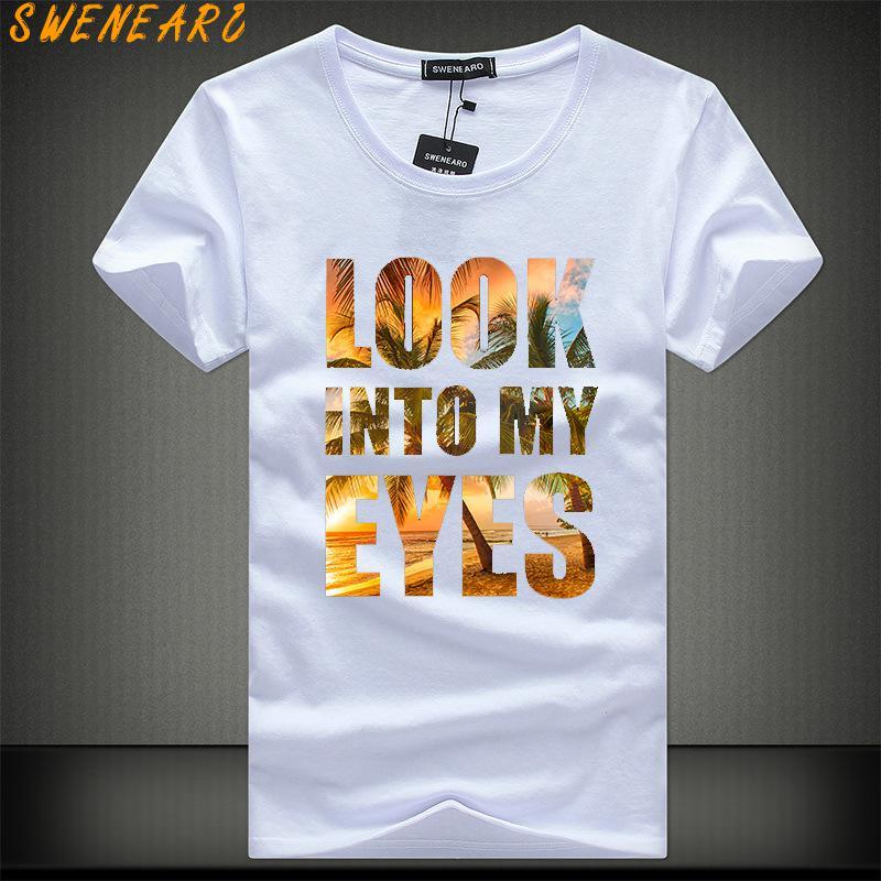SWENEARO 2018 Summer O-neck  Men T-Shirt Plus Size 5xl Brand Printed Short Sleeve Shirts High Quality 5XL T Shirt Casual Cotton