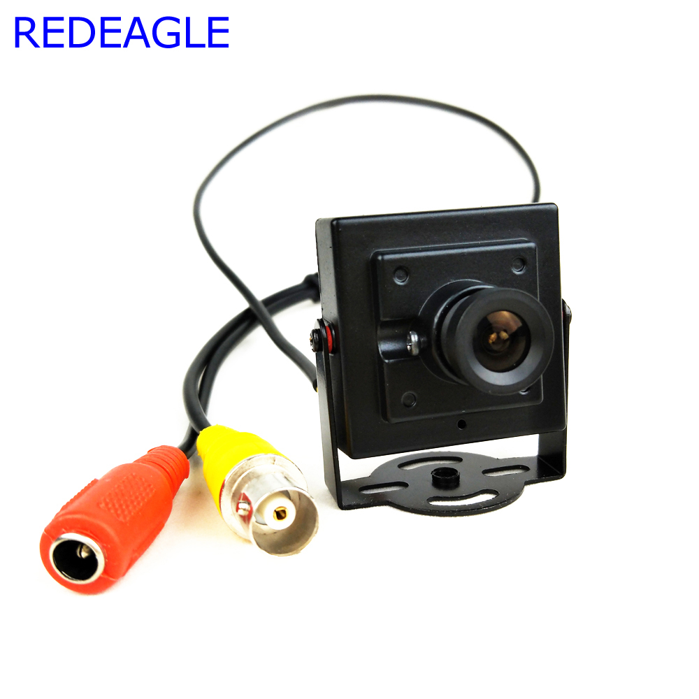 REDEAGLE CCTV 700TVL Analog Security Camera 3.6MM Lens Mini Metal Body Aerial Photography