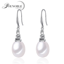 100% Genuine Brand Pearl Jewelry Natural Earrings For Women And Girls 925 Sterling Silver Earring Birthday Gift