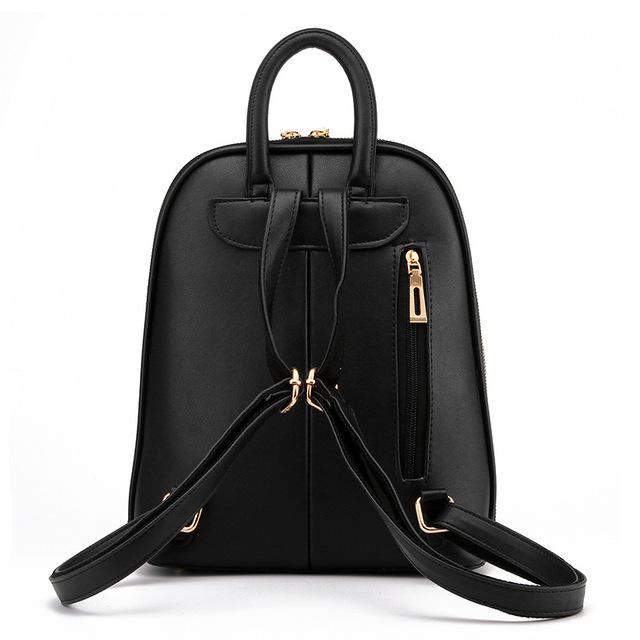 fondhere Pu Leather Backpack Women Teenage Girls School Shoulder Bag Bagpack High Quality Female Backpacks Travel Mochila