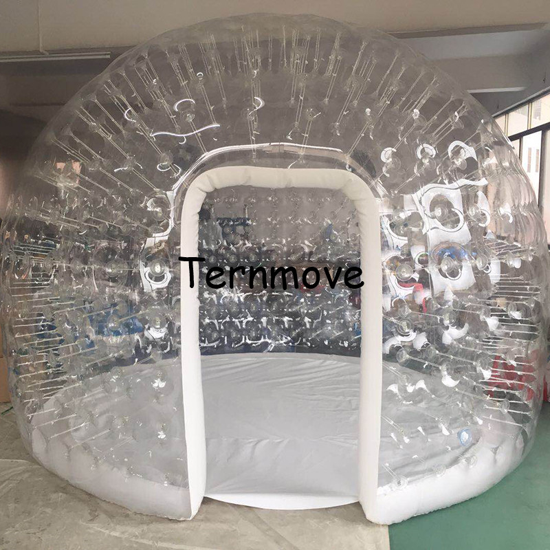 check out 67a25 4c2c9 US $1392.0 13% OFF|inflatable Sauna party tent,wedding camping house  tents,kids play tent house,0.8mm pvc Transparent Inflatable Bubble Tent-in  ...