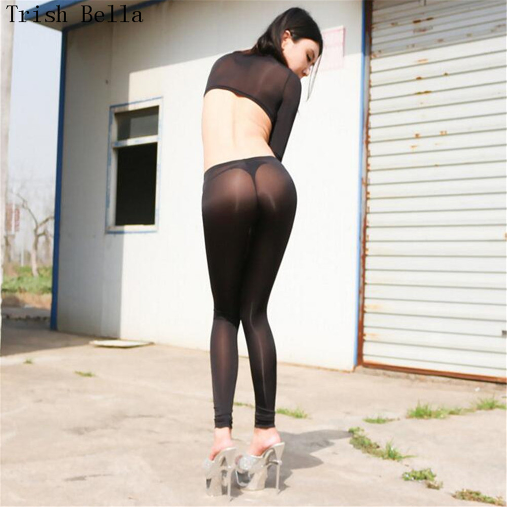 Ultrathin Ice Transparent Bright Tighten Pencil Pants Trousers Fetish Novelties Pole Dance Novelty Gluteos Wetlook Remonte Fesse