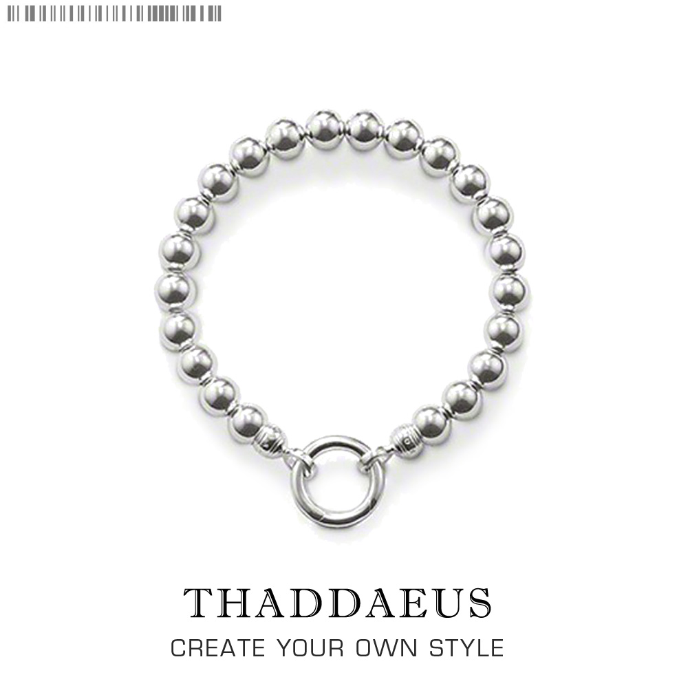 Bracelet Silver Beads Width 0.8cm Length 16-25cm For Women And Men Office Gift Thomas Style Glam Jewelry Bracelet Fit ts Charm