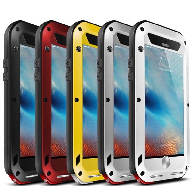 Цена за Для iPhone 6 чехол 360 градусов Алюминиевый Водонепроницаемый Телефон чехол для iPhone 6S Plus всего тела противоударный чехол для телефона люксовый бренд