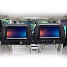1 adet 7 inç evrensel kafalık ekran HD Video dokunmatik düğme ile pratik USB çok fonksiyonlu araba monitör LCD dahili hoparlörler