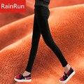 RainRun Alta Qualidade Elástica Calças Quentes Calças Skinny Espessamento Inverno Calças Desgaste Exterior Calças Mulheres Lápis