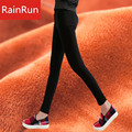RainRun High Quality Elastic Warm Pants Skinny Winter Thickening Trousers Outer Wear Women Pencil Pants