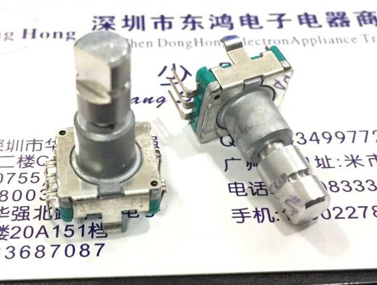 2 шт./лот, энкодер ALPS EC11 с переключателем 30, позиционирование 15 импульсов, Длина оси 17 мм