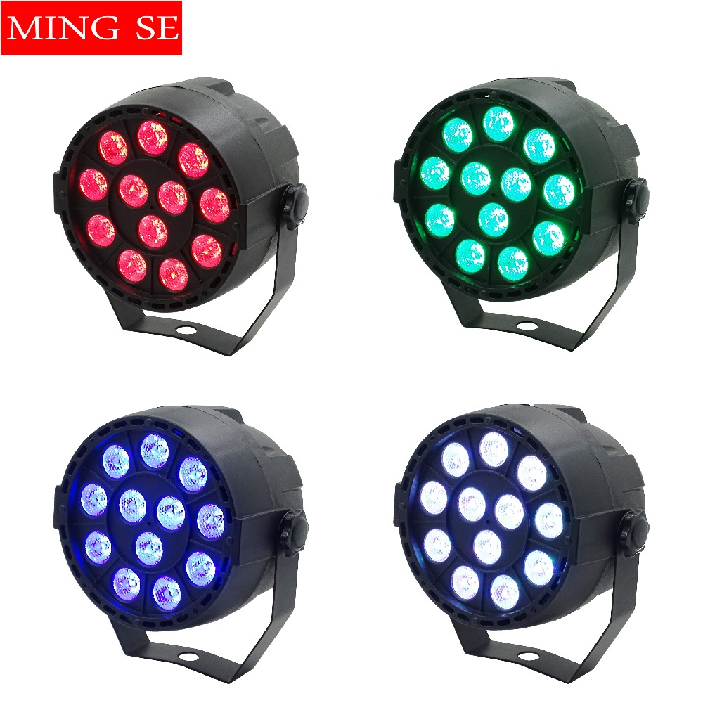 4Pcs/lots 12x3W Mini LED Par RGB 3in1 LED Stage Light 12*3W Par Light 3in1 Wall Wash Light For Bar KTV Party Stage Lighting