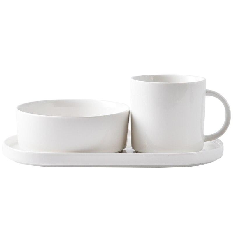 Style japonais tasse en céramique bol plat ensemble petit déjeuner une personne costume maison petit déjeuner céréales bol assiette avec lait tasse livraison gratuite