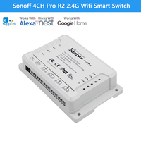 Sonoff 4CH Pro R2 Advanced Smart Switch 4 Channels 433MHz 2 4G Wifi Remote Control Smart