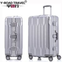 20 24 26 28 Aluminum Frame Spinner Luggage Carry On Cabin TSA Scratch Resistant Travel Trolley