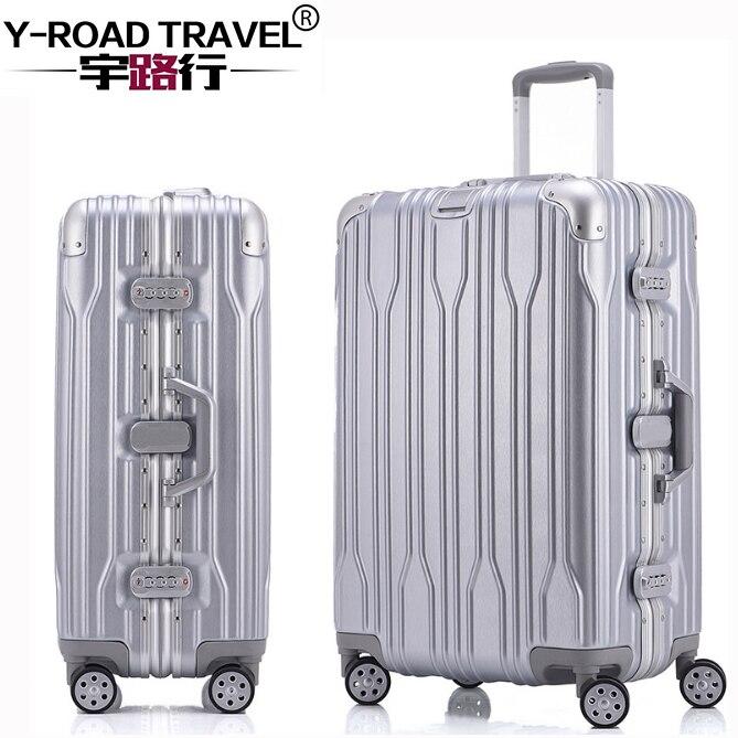 20'24'26'28' Aluminium Rahmen Spinner Gepäck Tragen-auf Kabine Tsa Kratzfest Reise Trolley Roll Gepäck Koffer Räder