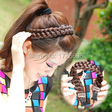 Synthetic Chunky plaited hairband great price