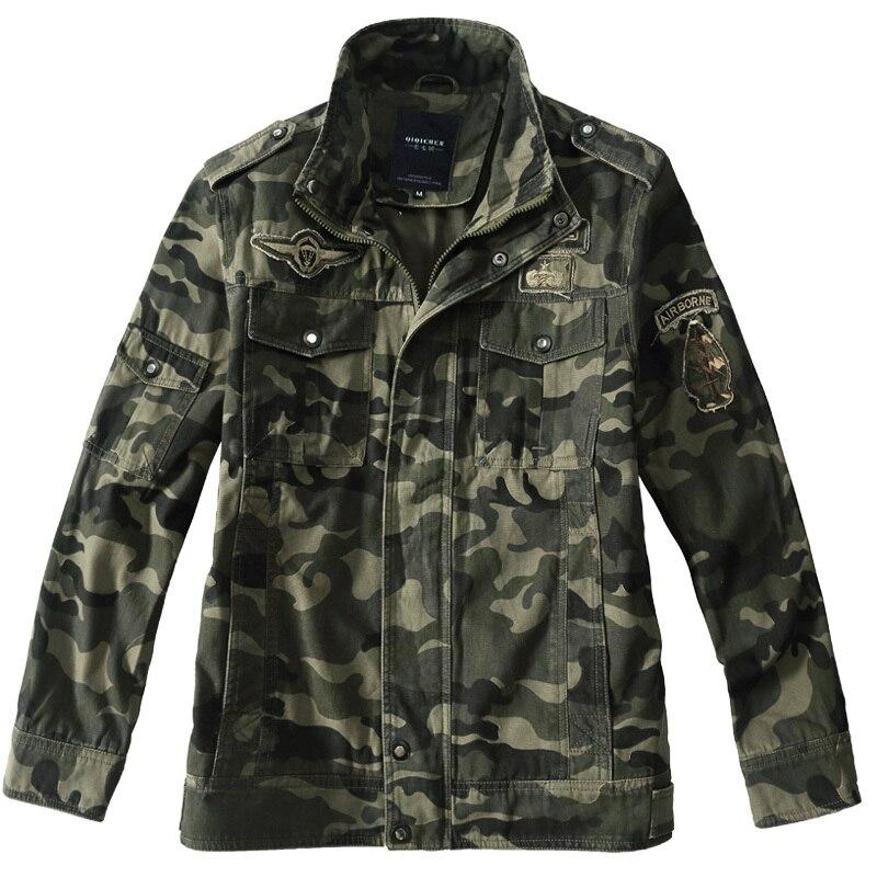 Hommes armée militaire aéroporté pilote veste Camouflage militaire uniforme us armée cargo multicam militar tactique vêtements